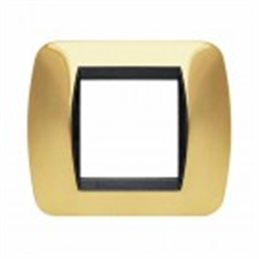 Placca Living International 2 moduli - Oro Vero L4802OR