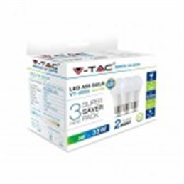 KIT Super Saver Pack V-TAC Lampadine bulbo LED 5W E27 bianco caldo 2700K VT-2055 - SKU 7266