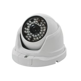 Dome IP 1,3Mpixel IR23Led H.264 3,6mm IP66 12Vdc/Poe