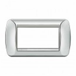 Placca Living International 4 moduli - Chrome L4804CT