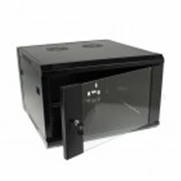 "Armadio Rack 6 unita pensile Nero RAL9004 19"" 6U 600mm"